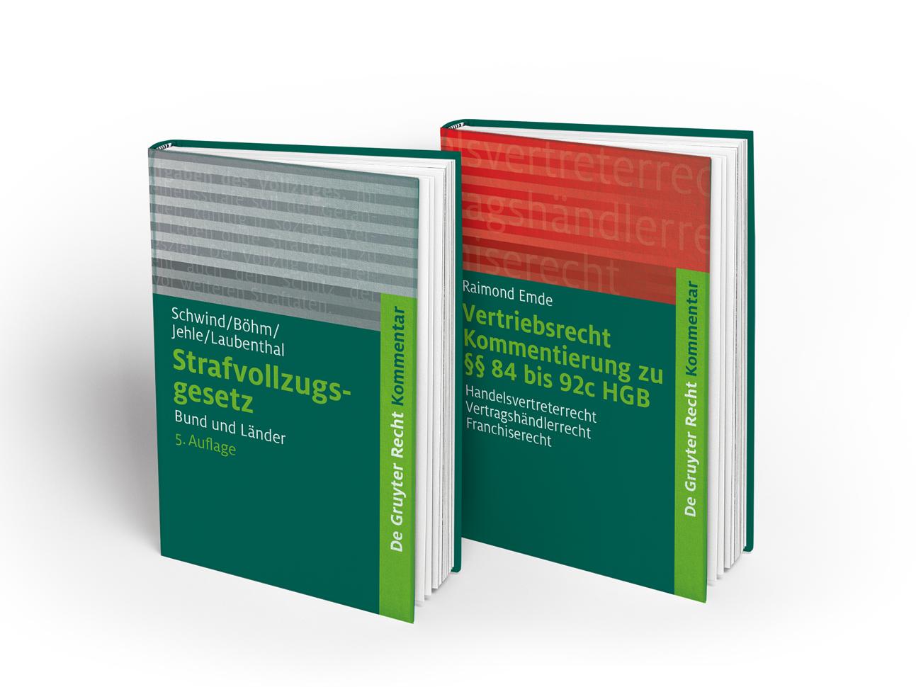 juristische fachbücher müssen nicht langweilig aussehen. textauszüge werden bei den kommentarbänden als bild gestaltet.