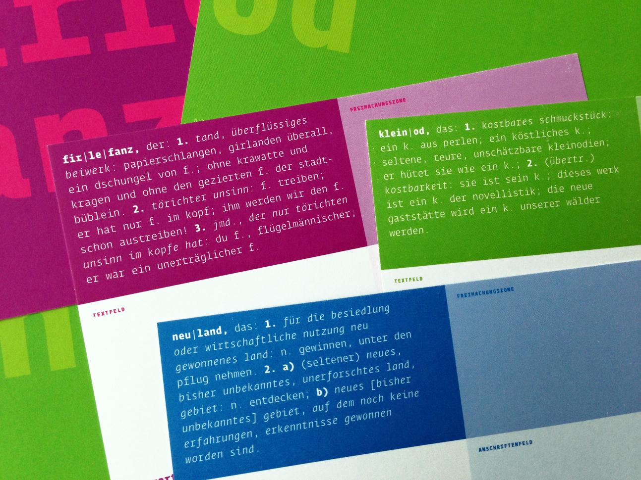postkarte, 148x105 mm, 170g, 4/4-farbig diese entwürfe von martin zech design sind ohne auftraggeber entstanden und in kleinen exklusiven auflagen erhältlich.