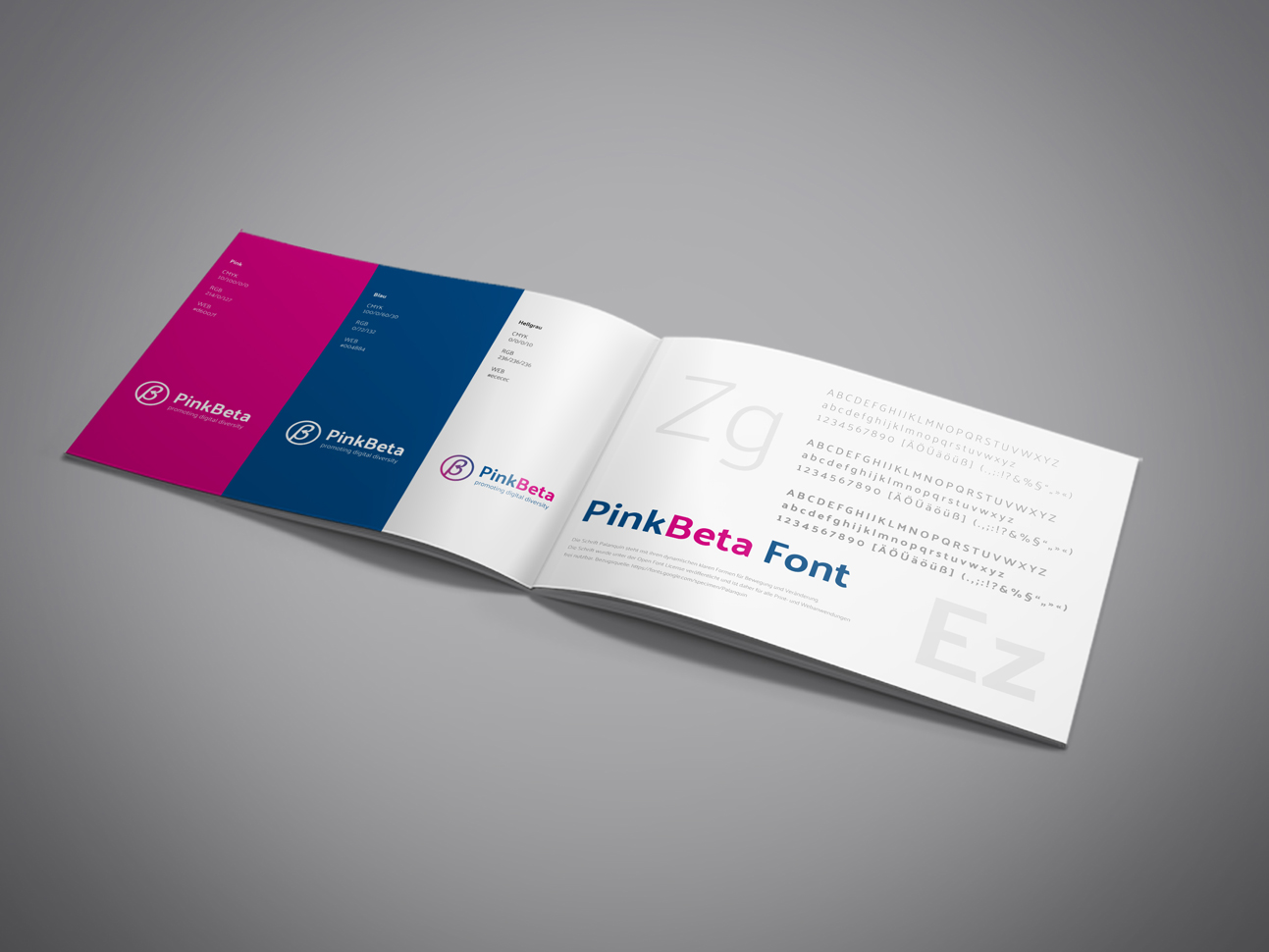 martin zech design, corporate design, pink-beta, styleguide, doppelseite 2