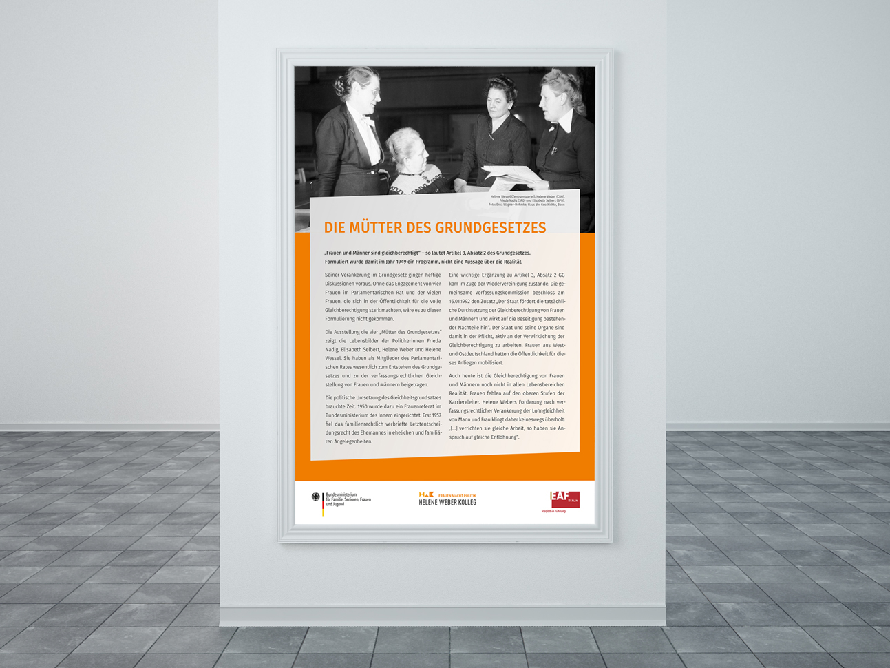 martin zech design, projekt design, mütter des grundgesetzes, titeltafel