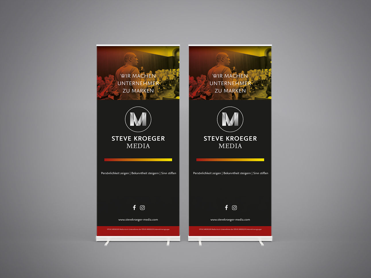 martin zech design, corporate design, steve kroeger media, rollup