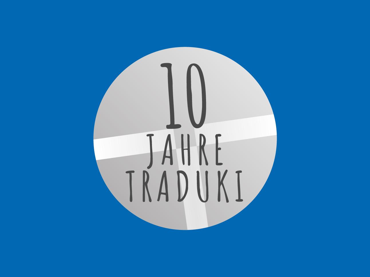 martin zech design, projekt design, traduki, 10-jahre-jubellogo