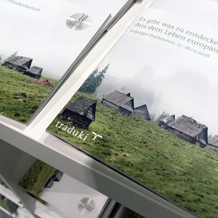 martin zech design, projekt design, traduki, messestand, leipziger buchmesse 2018, programmheft, titel 2