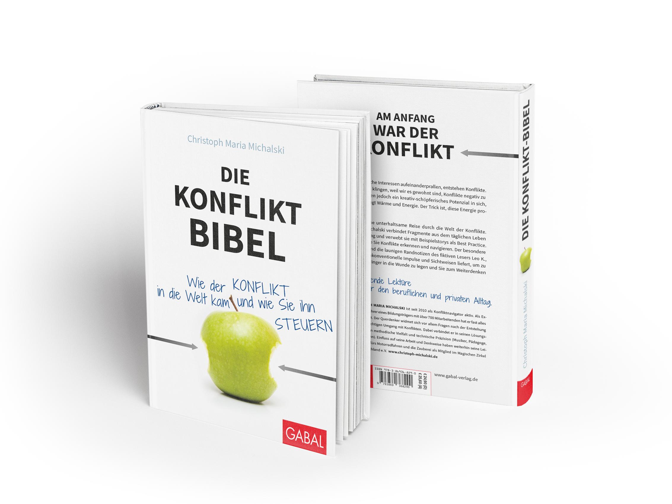 martin zech design, buchcover gestaltung, gabal verlag, christoph maria michalski, konflikt-bibel