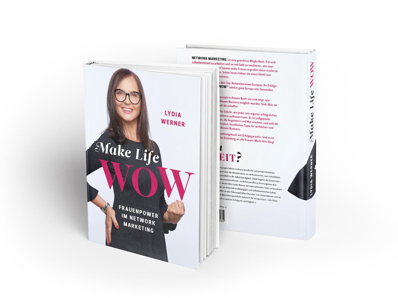 martin zech design, buchcover, self publishing, lydia werner, make life wow