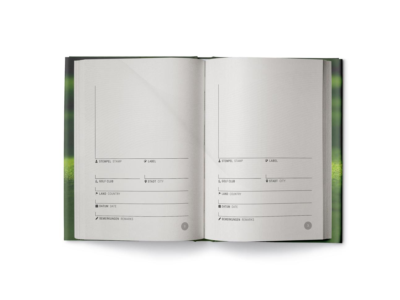 martin zech design, buchcover, self publishing, schaedler, golf passport, doppelseite 1
