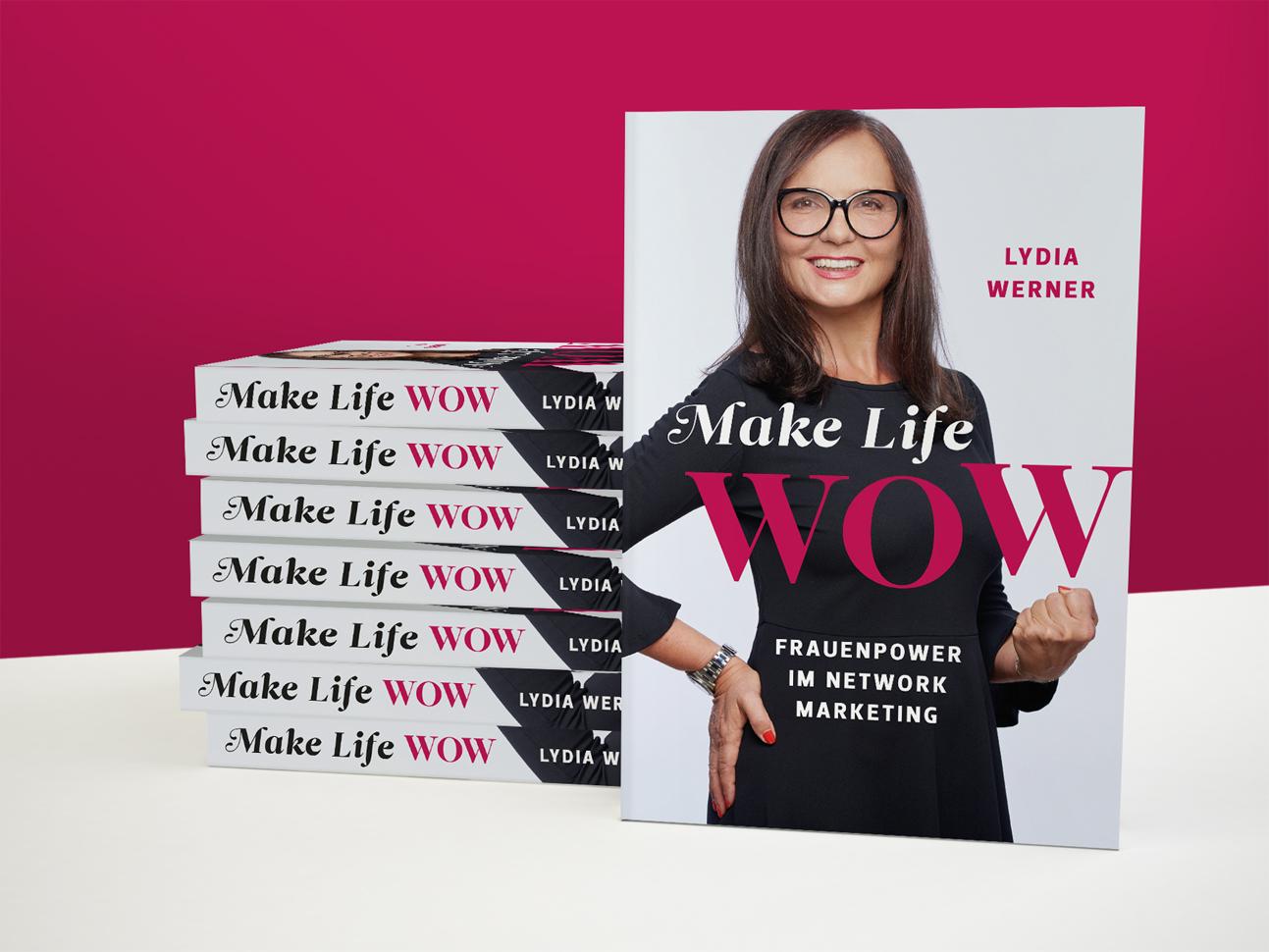 martin zech design, buecherstapel, self publishing, lydia werner, make life wow