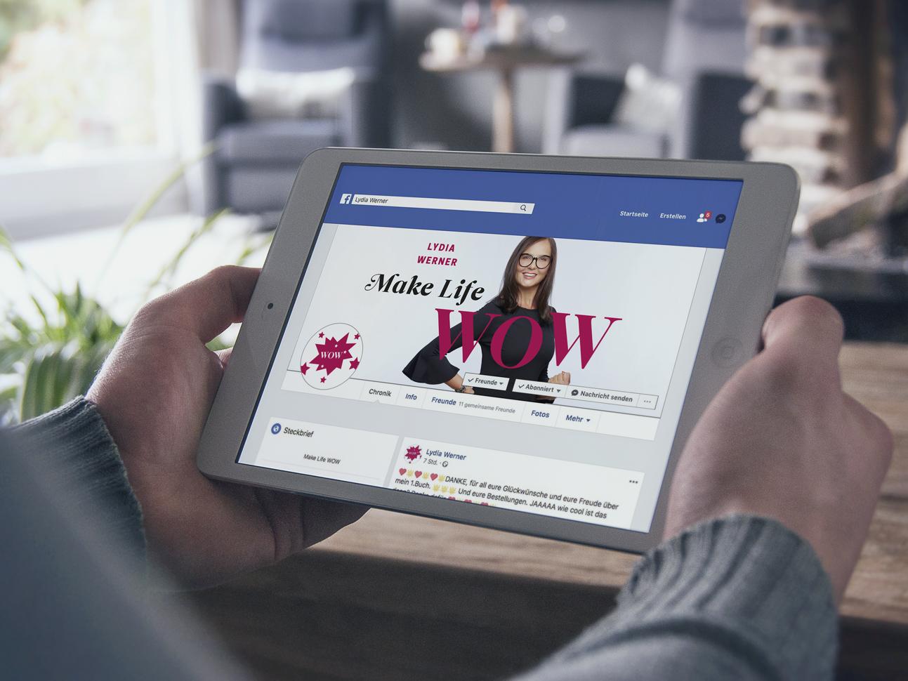 martin zech design, facebook-header, self publishing, lydia werner, make life wow