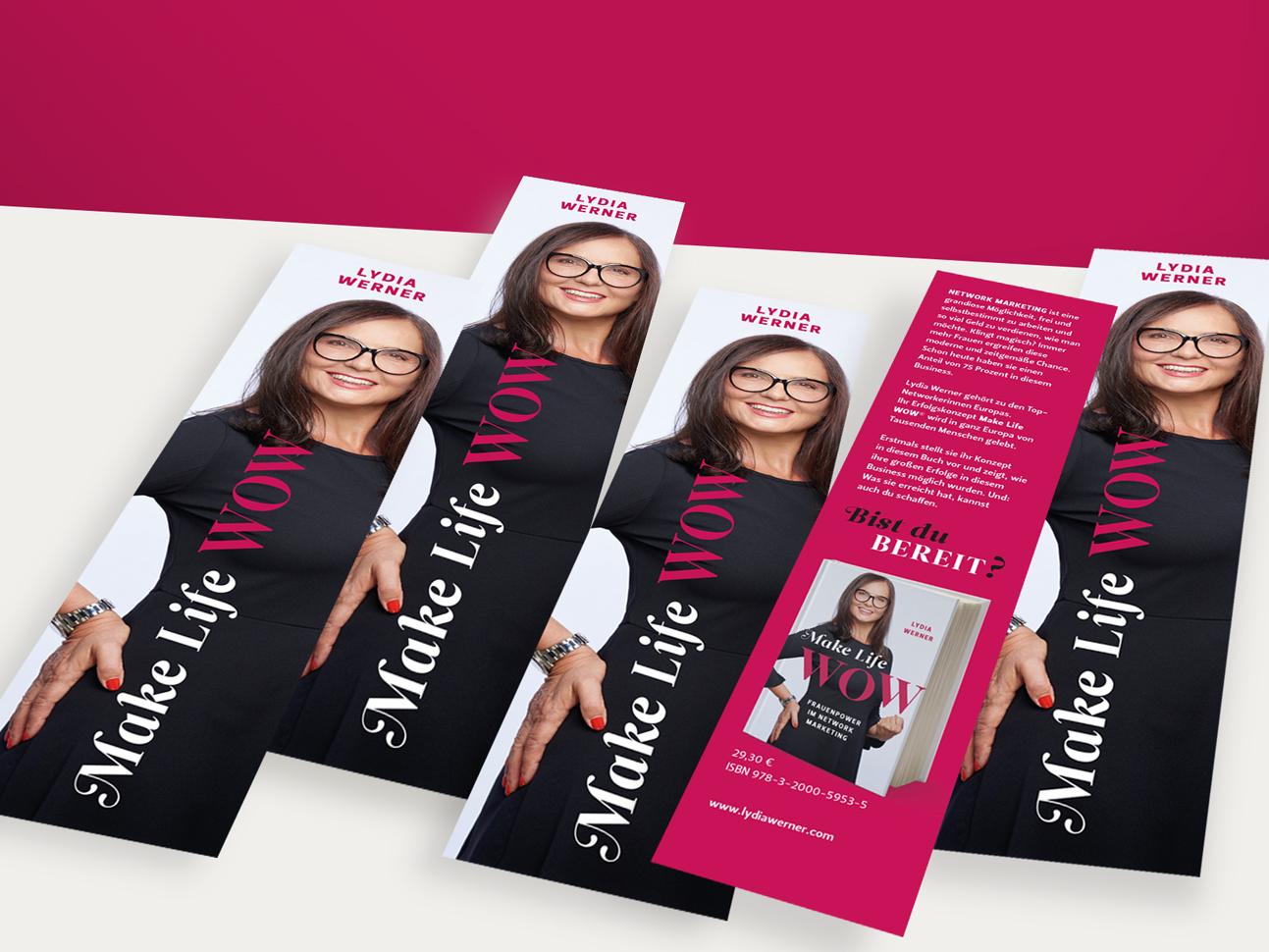 martin zech design, lesezeichen, self publishing, lydia werner, make life wow