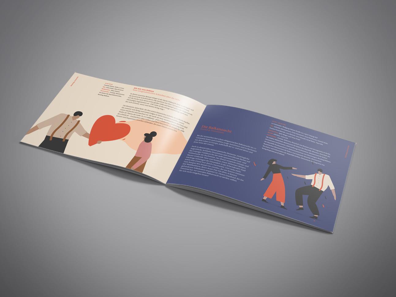 martin zech design, projekt design, traduki, messestand, leipziger buchmesse, 2019, programmheft, doppelseite 2
