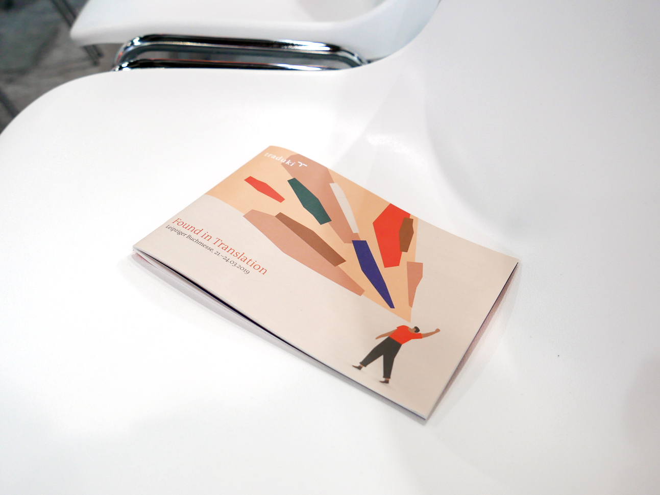 martin zech design, projekt design, traduki, messestand, leipziger buchmesse, 2019, programmheft, titel