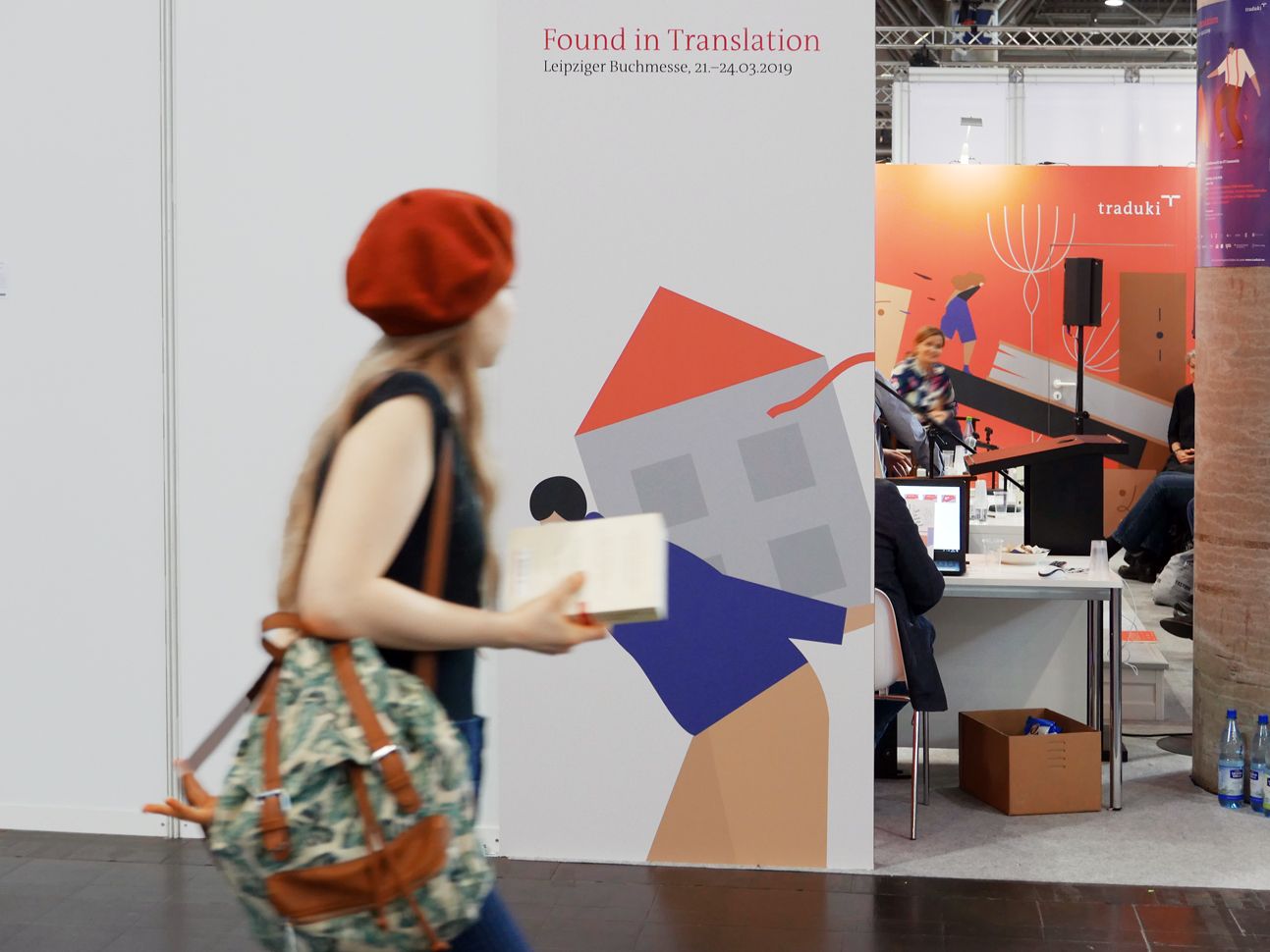 martin zech design, projekt design, traduki, messestand, leipziger buchmesse, 2019, seitenansicht