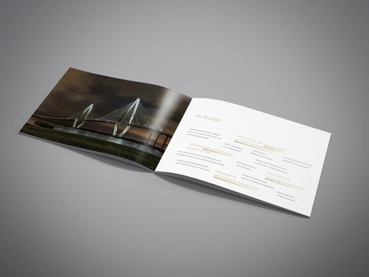 martin zech design, corporate design, pontea, firmenbroschuere, doppelseite 6