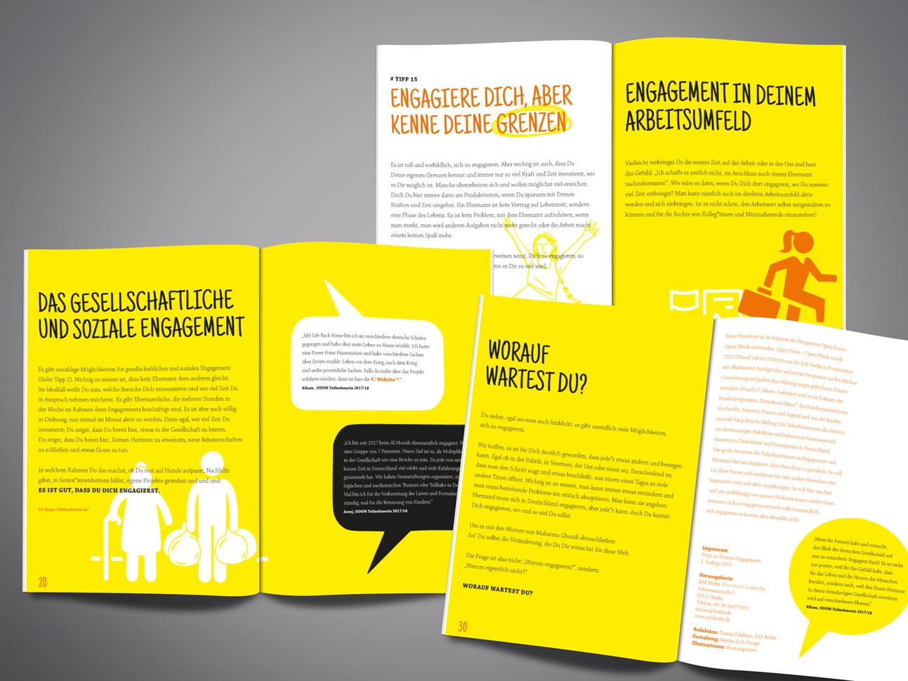 martin zech design, projekt design, dein engagement, doppelseiten 2