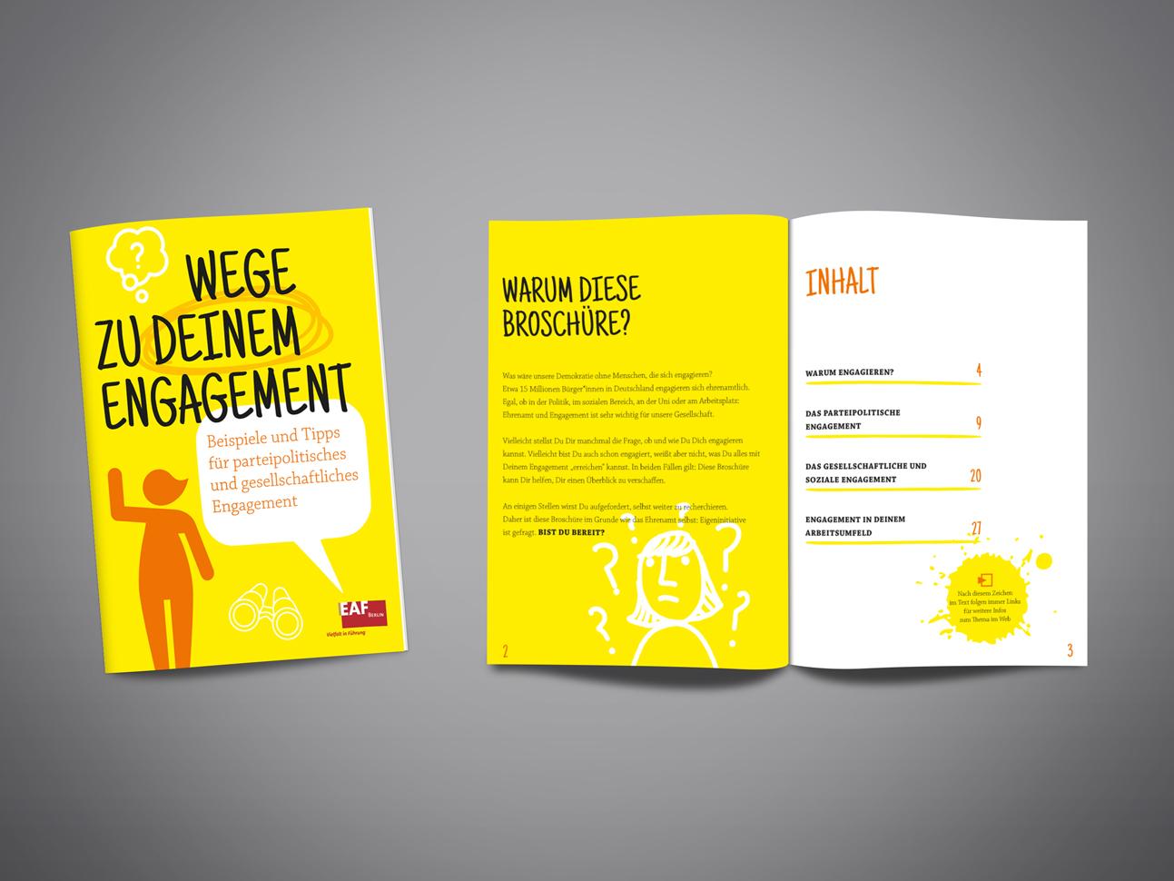 martin zech design, projekt design, dein engagement, titel, doppelseite