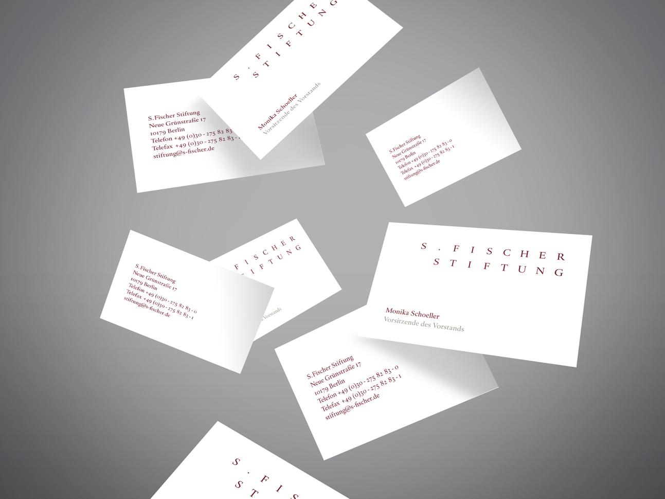 martin zech design, corporate-design, s. fischer stiftung, visitenkarte