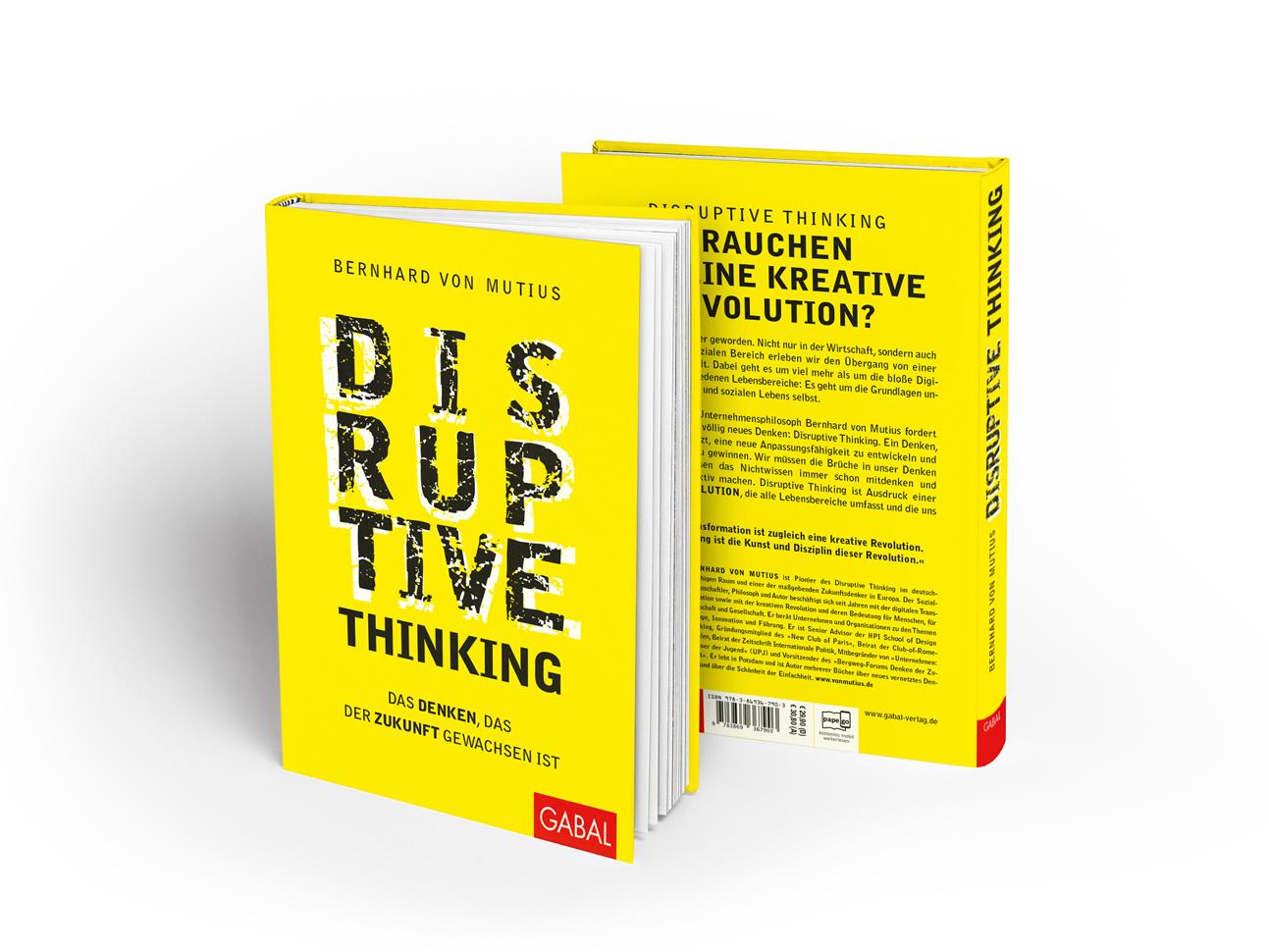 martin zech design buchcover design, bernhard von mutius, disruptive thinking