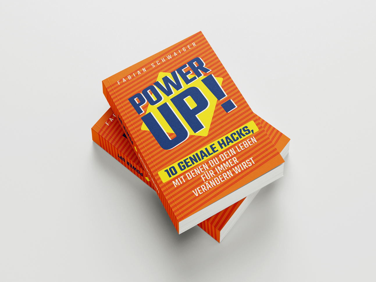martin zech design, buchgestaltung, fabian schwaiger, power up, cover 2