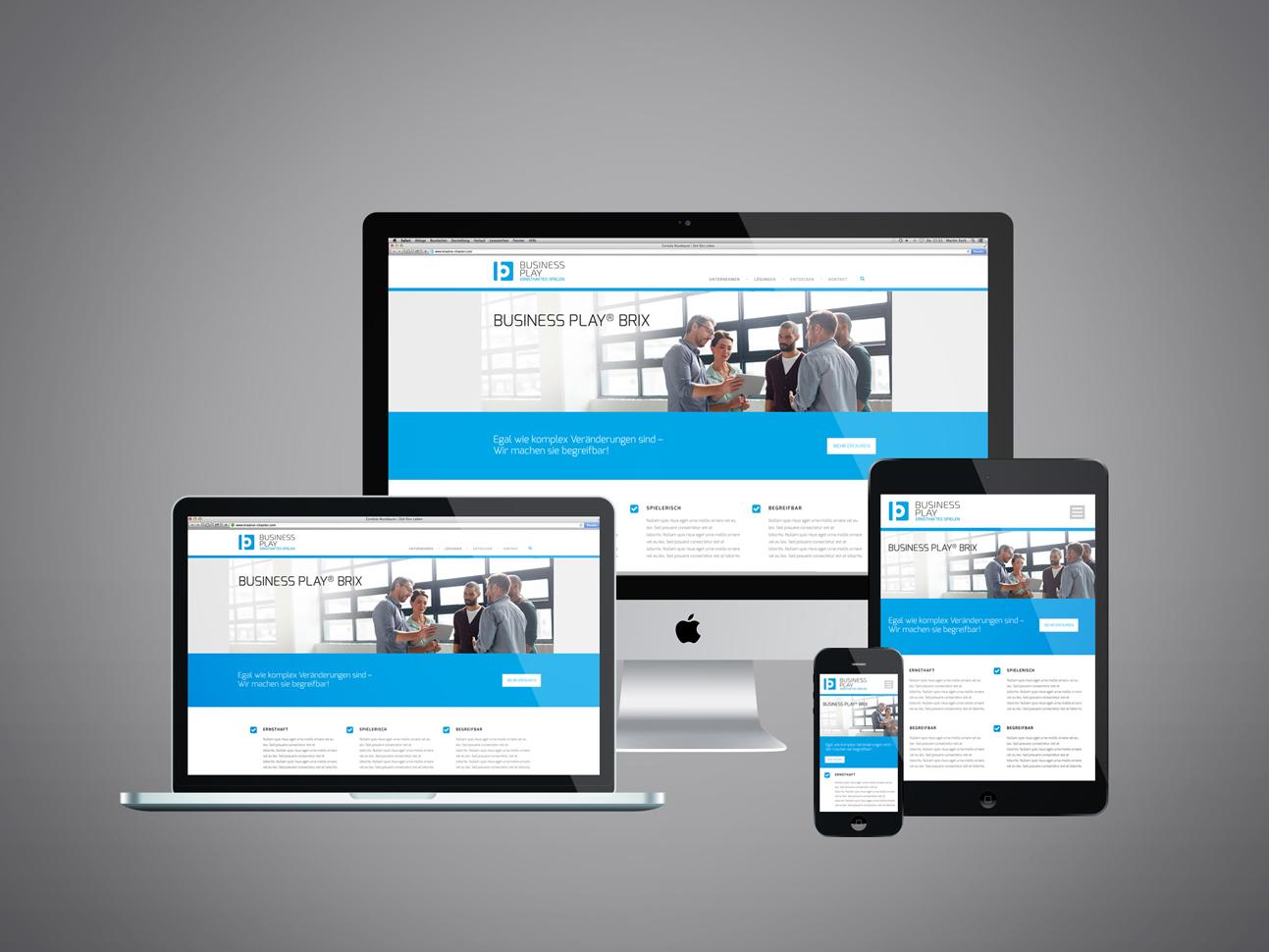 martin zech design, corporate-design, business play, landing page