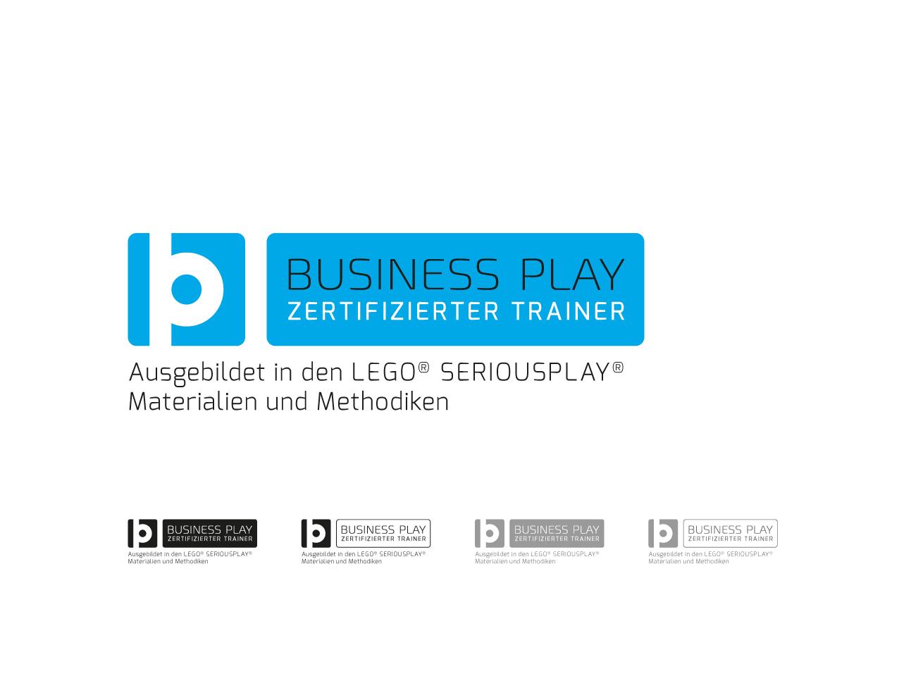 martin zech design, corporate-design, business play, trainer badge